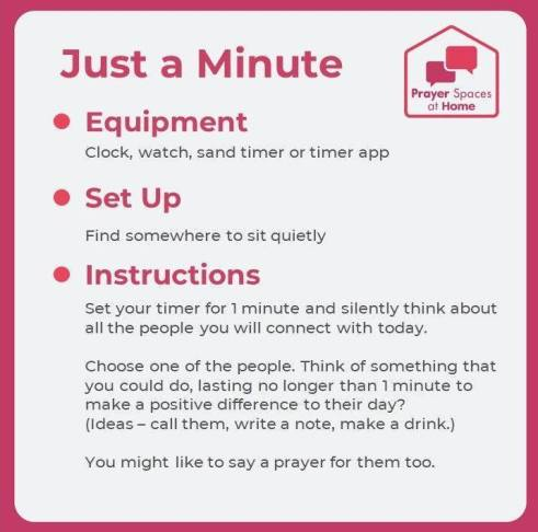 Just a Minute prayer space (002)